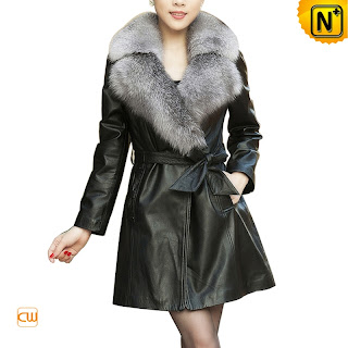 Women Black Sheepskin Coat