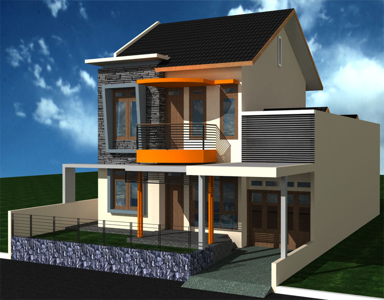 Design Modern Model 2 Floor House