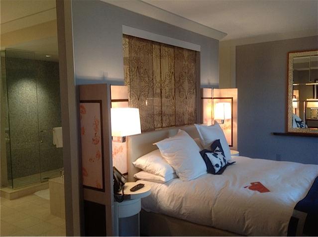 The hopeful traveler wraparound terrace suite bedroom at for Terrace one bedroom cosmopolitan
