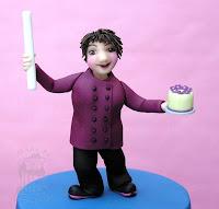 modellierte Figur aus Zucker - Torte - Topper