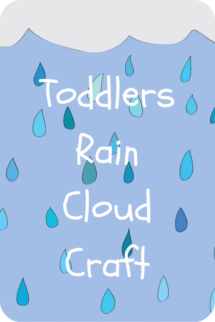 Super Easy Toddler Rain Cloud Craft