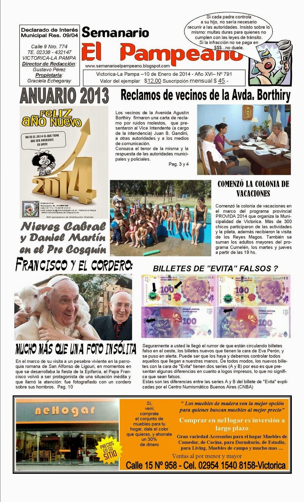 Semanario El Pampeano Mi Rcoles 15 De Enero De 2014 # Muebles Cumelen