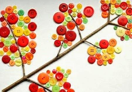 Manualidades Árbol de botones
