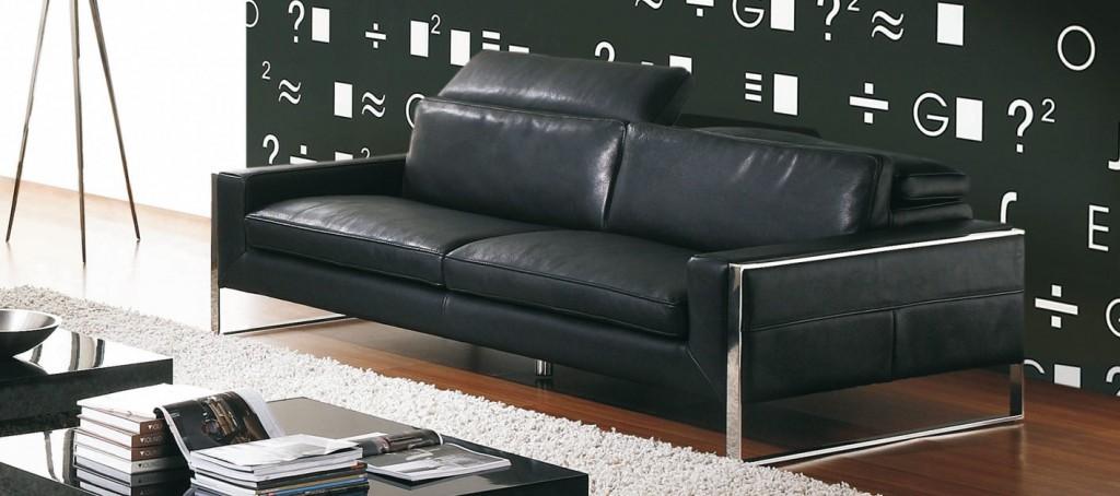 Blog décoration et famille: Un canapé en cuir noir