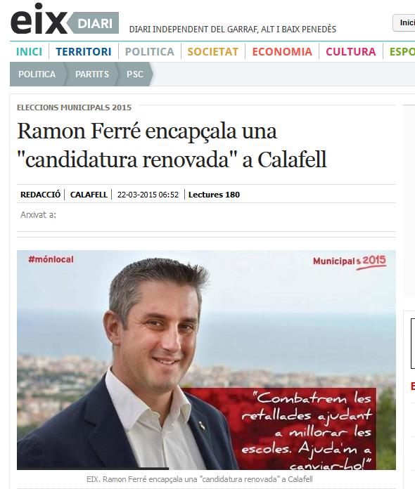 http://www.eixdiari.cat/politica/doc/53960/ramon-ferre-encapcala-una-candidatura-renovada-a-calafell.html