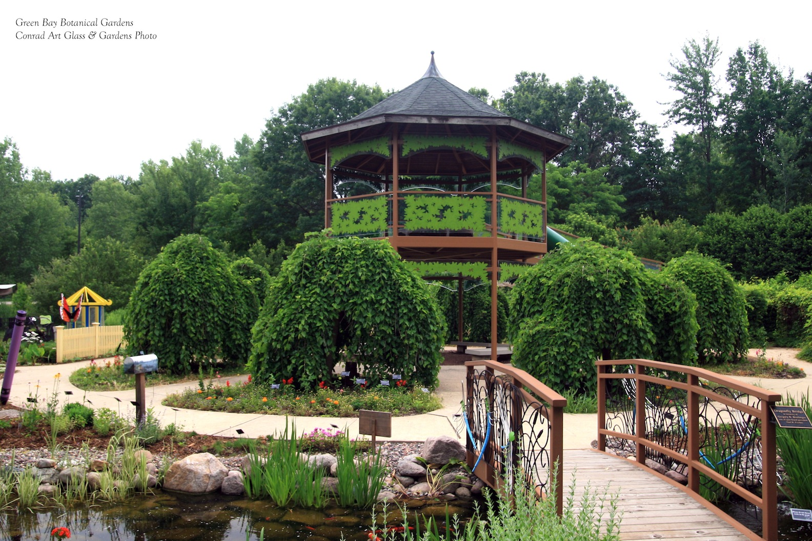Green Bay Botanical Gardens Panoramio Photo Of Path Inside The Green Bay Botanical Gardens