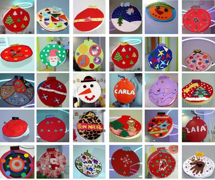 El cole de pate las bolas de navidad del centro infantil - Bolas de navidad de fieltro ...