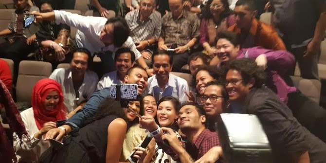Matt Hart meet Jokowi, Matt Hart with new Indonesian president, Abdee Negara, Olga Lidya, Arkana concert, creative industry, talented young Indonesian, creative business, creative economy,