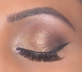 mac gold bronze smokey eyeshadow blog look