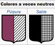 Colores neutros. Cromatología de los blasones