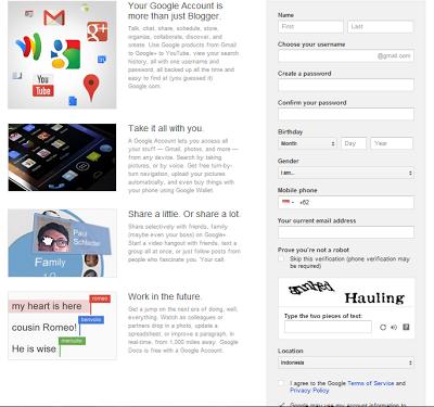cara membuat Akun Email Baru di Gmail