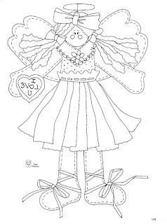 Desenhos Para pintar Anjos