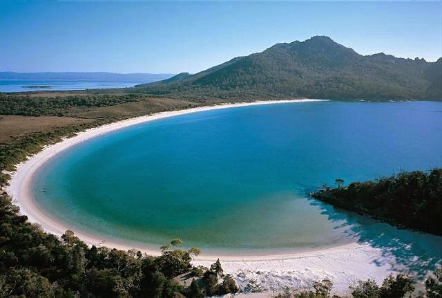 Wineglass Bay in Tasmania, Australia