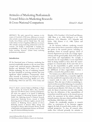 research papers on ethics in marketing