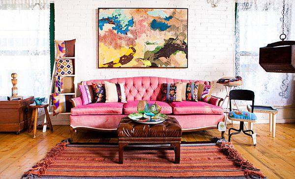 Decoracion Baño Rosado:Eclectic Bohemian Living Room Decor