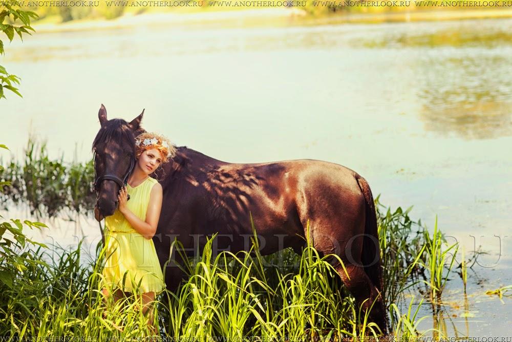 фотосессия с лошадкой в воде