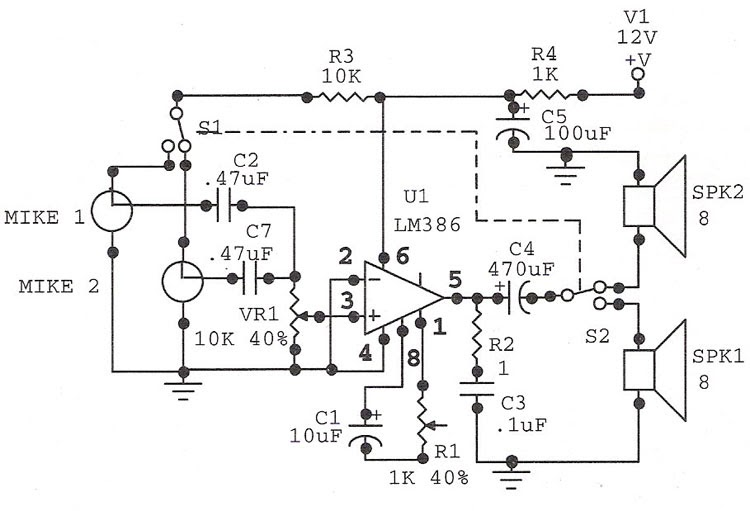 circuit diagram  door phone