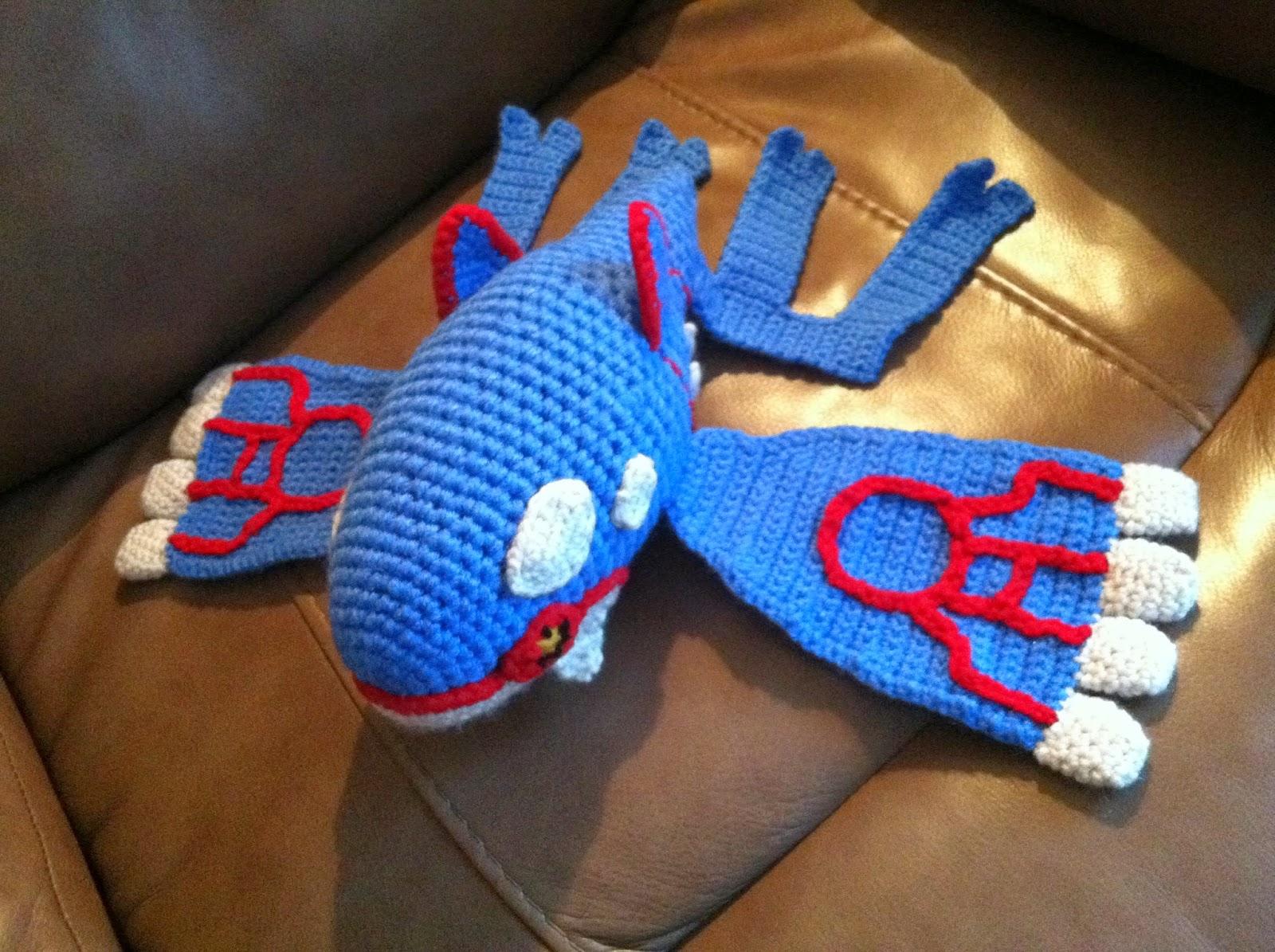 Plush Heart Knitting Pattern : Heart in Flight Crochet: Kyogre Crochet Plush Pattern