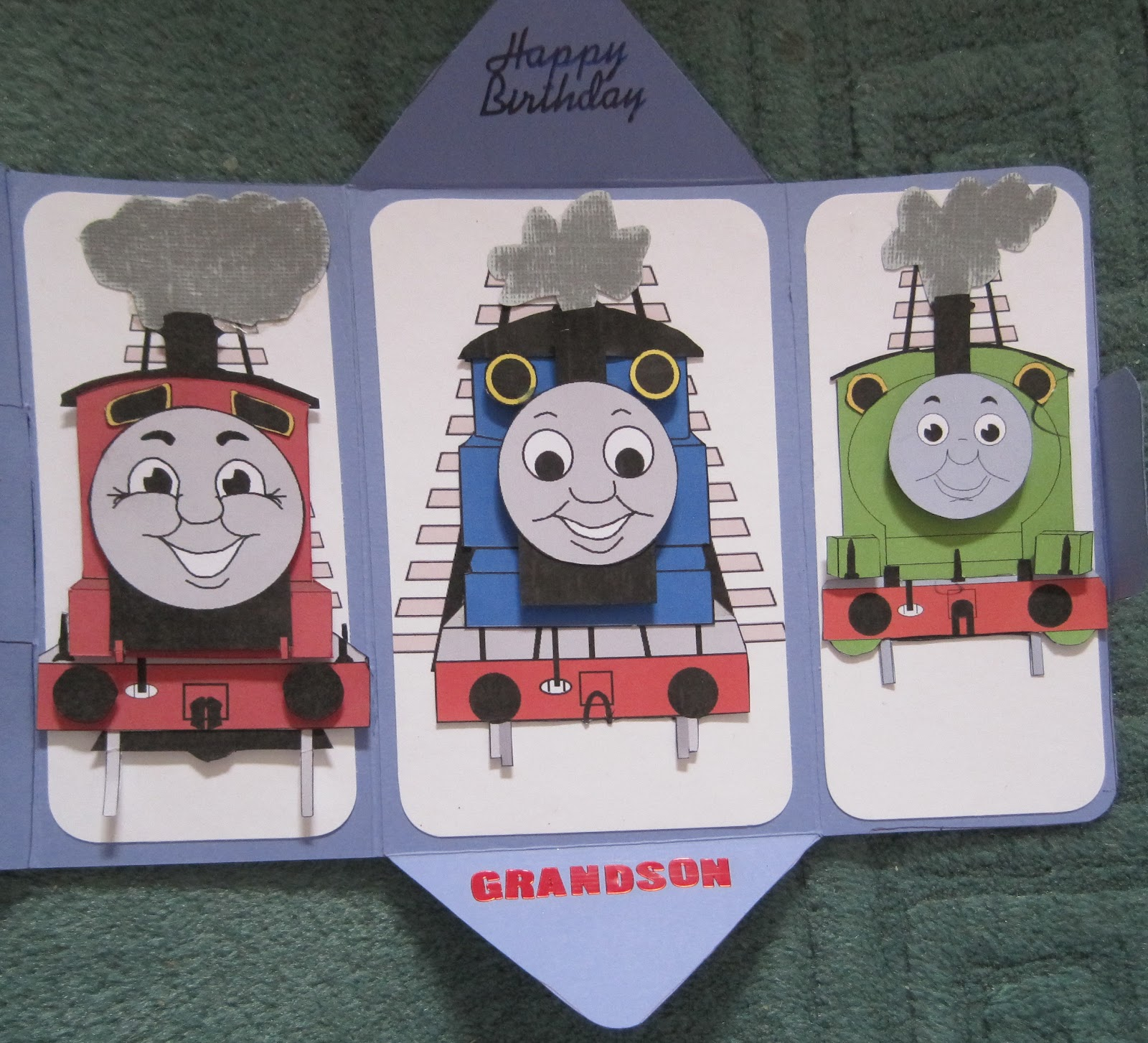 Thomas Friends Birthday Card For My Grandson Jacob