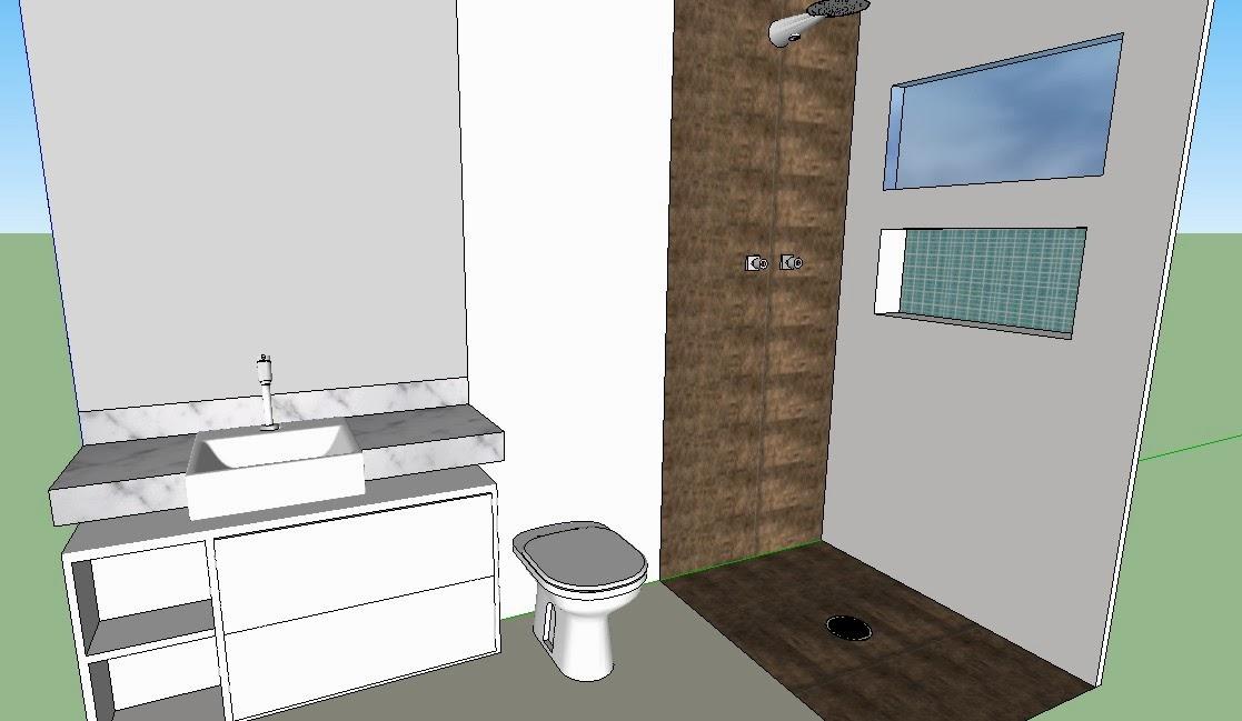 banheiro pequeno, revestimento madeira