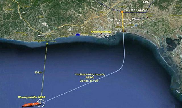 ΔΕΠΑ και Gastrade προωθούν την κατασκευή του τερματικού σταθμού LNG στην Αλεξανδρούπολη