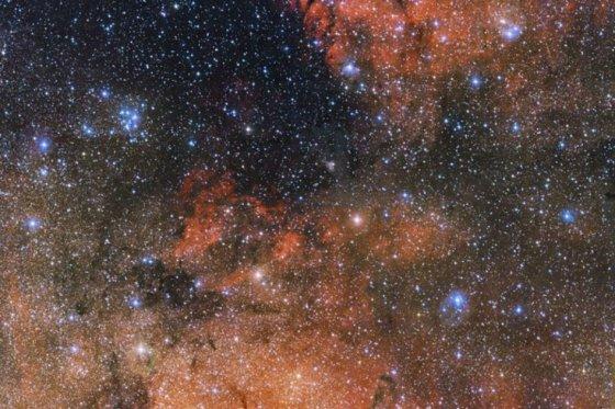 Captado  cúmulo de estrellas en Sagitario