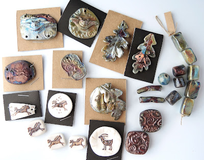 Ceramic and raku pieces by Star Spirit Studio