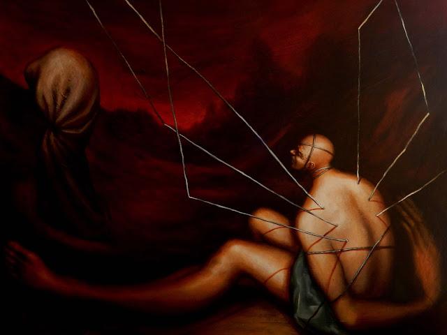 Arte contemporáneo del artista Abisay Puentes, Serie: Imposibilitados