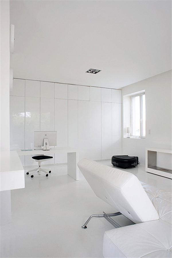Cute And Elegant Apartment Design With All White Element