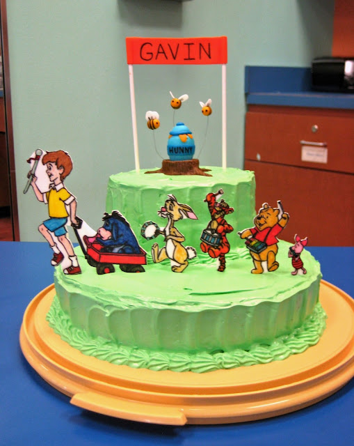 Winnie the Pooh Marching Band Cake 2