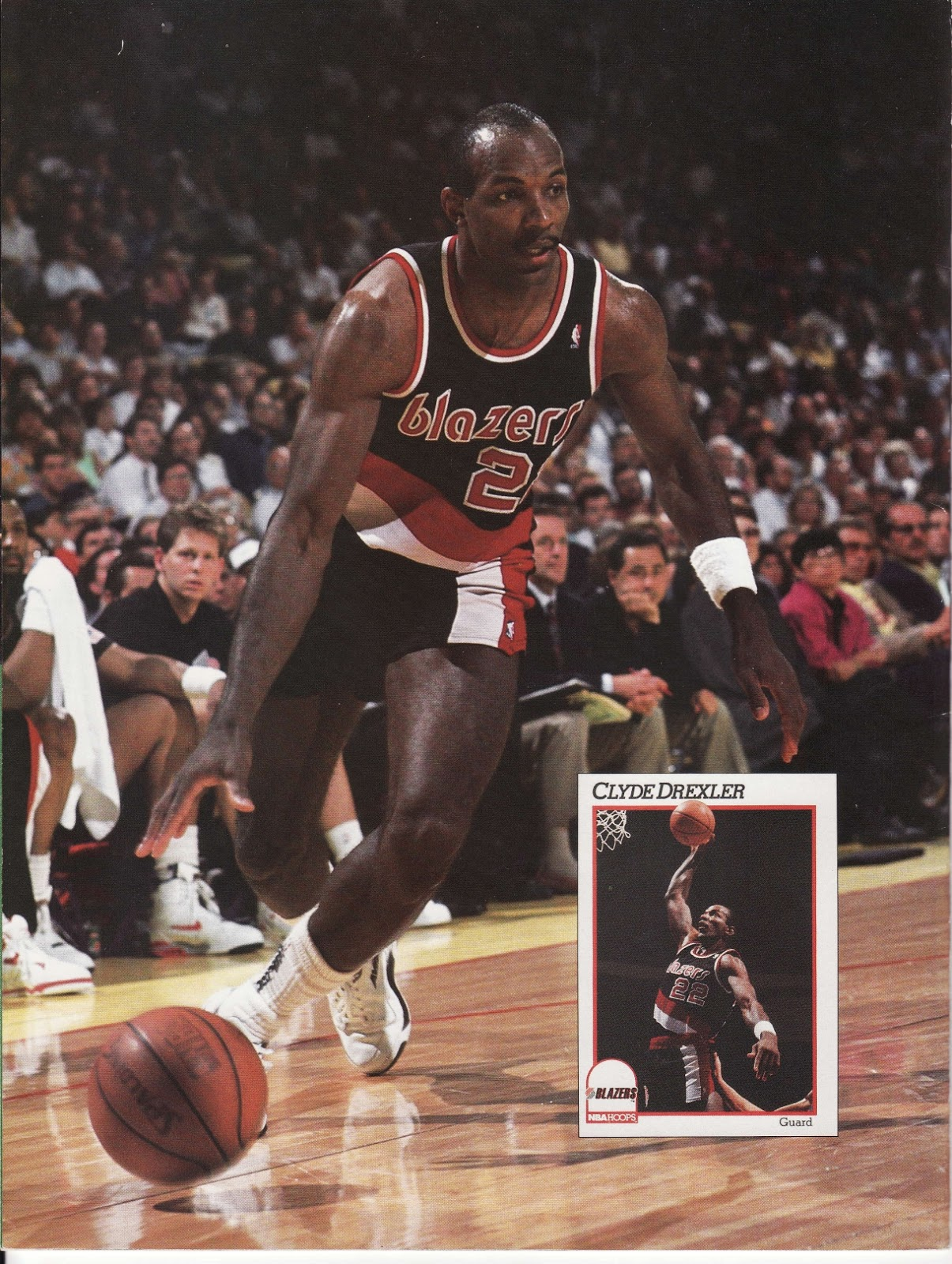 Clyde Drexler from Beckett's Basketball Monthly