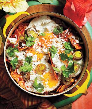 Chilaquiles With Fried Eggs from Realsimple.com