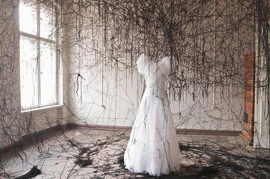 Installation by Chiharu Shiota