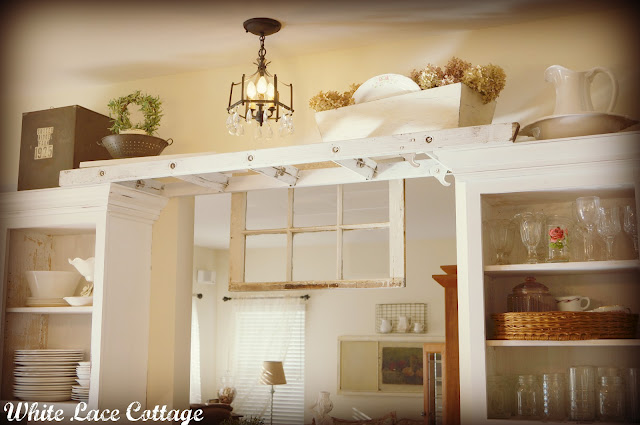 I Love That Junk: Ladder in the kitchen - White Lace Cottage