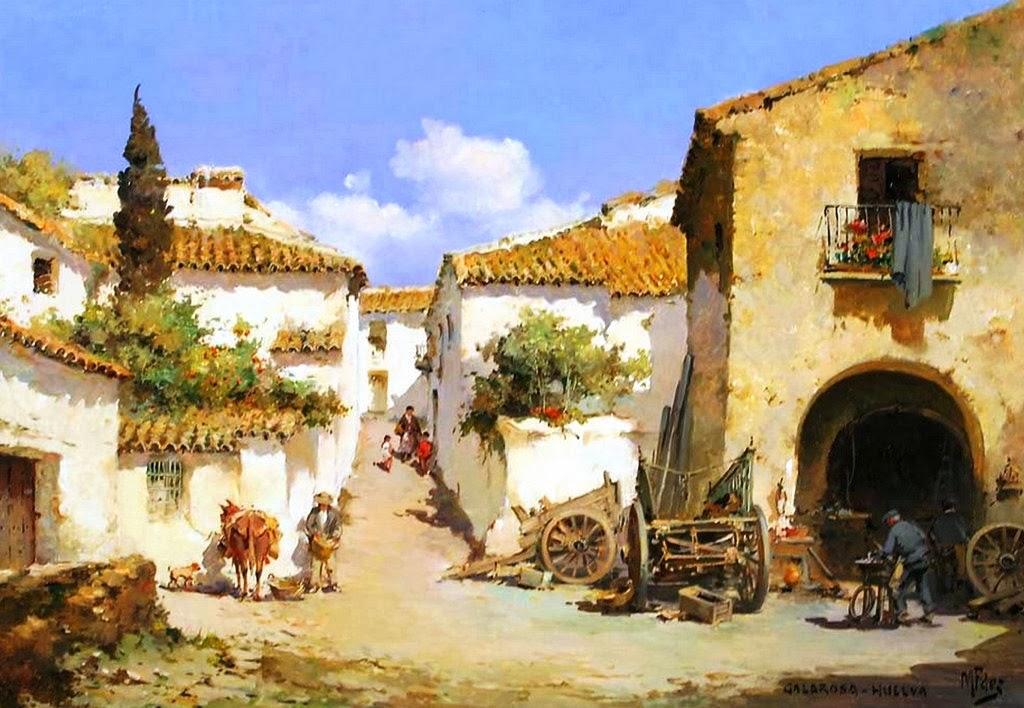 Cuadros modernos pinturas y dibujos cuadros al leo de - Paisajistas en madrid ...