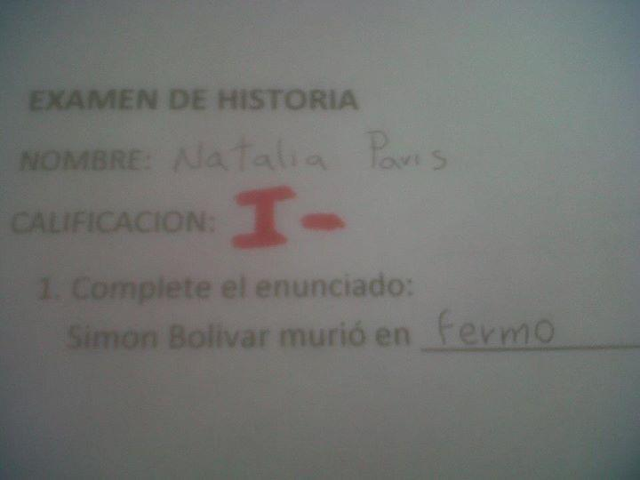 Examen de Historia