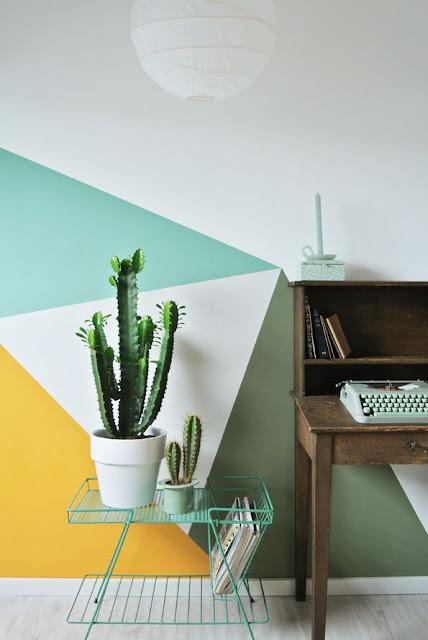 la fabrique d co peindre un mur de fa on originale. Black Bedroom Furniture Sets. Home Design Ideas