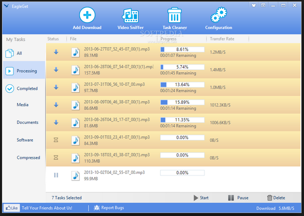 Download Aplikasi EagleGet (Software Penambah Kecepatan Download Pengganti IDM) 2.0.3.9  Terbaru 2015 Free