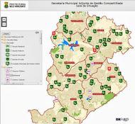 Mapa/relação serviços públicos em BH