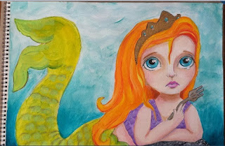 Big Eyes Disney Princesses Art Crawl