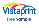 free sample from Vistaprint