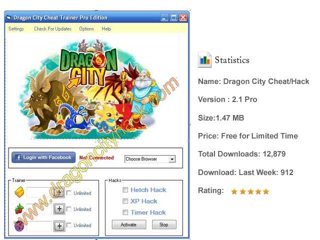 Dragon City Cheats/Hacks/Trainer Tool 2014 Download