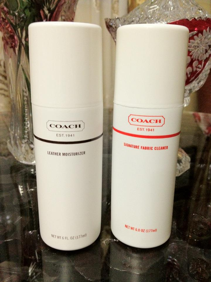 the smooth leather can be cleaned with our coach cleaner and moisturizer set the signature jacquard fabric can be cleaned with our coach signature fabric - Coach Cleaner
