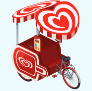 The Sims Social Get Heart Brand Ice Cream Stand
