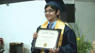 Bocah 11 Tahun Ini Lulus Kuliah, Sungguh Jenius