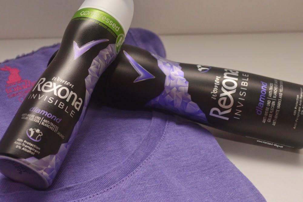 Rexona Women - Invisible Diamond Compressed Deo-Spray und die herkömmliche Sprühdose