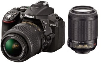 Ebay : Buy Nikon D5300 VR II & Nikon AF-S 55-Kit Lens at Rs.39545 only