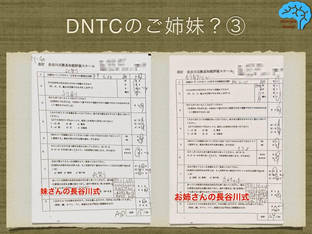 DNTC Fahr ファール病の長谷川式テスト