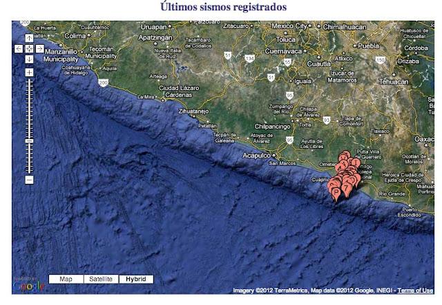 MAPA ultimos sismos falla placa tectonica méxico