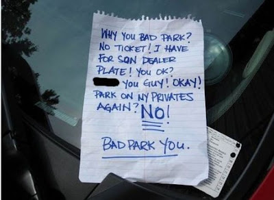 Best Passive Aggressive Parking Notes